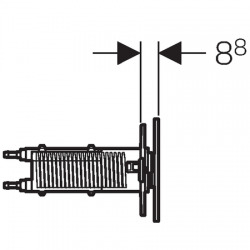 Plaque de déclenchement OMEGA70 GEBERIT, acier inoxydable brossé (115.083.FW.1)