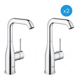 """Essence - Lot de 2 mitigeurs monocommande pour lavabo, 1/2"""" Taille L (23541001-DUO)"""
