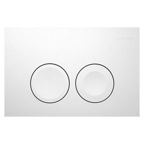Plaque de déclenchement 2 touches Blanc (115.125.11.1)