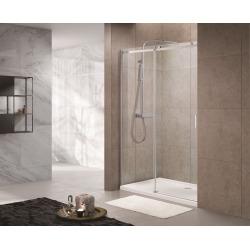 T-Linea Porte coulissante de douche verre trempé Easy Clean 120x200cm, Ouverture gauche à droite (TLDNEW120L01)