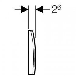 Plaque de déclenchement 2 touches Chromé (115.125.46.1)