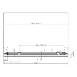 Pivot PDOP1 Porte de douche 811 x 1900, finition noire (03G40300Z1)