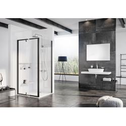 Pivot PPS-90 Porte de douche avec paroi fixe 895 x 1900mm, finition noire (90G70300Z1)
