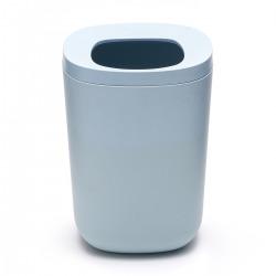 Azul Poubelle en plastique largeur 18cm, Bleu chiné (AZUL01)