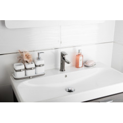 Bela Porte-savon en plastique largeur 13cm, Blanc (BELA39)