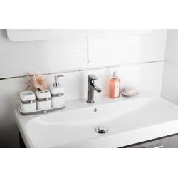 Bela Distributeur de savon en polyrésine largeur 7cm, Blanc (BELA99)