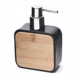 Hombre Distributeur de savon en polyrésine, Noir (HOM99)