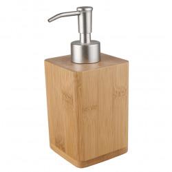 Latia Distributeur de savon en bois de bambou, Bois clair (LAT99)