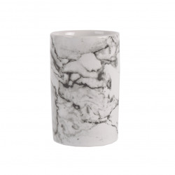 Libra Gobelet en céramique aspect marbre, Blanc (MAR27)