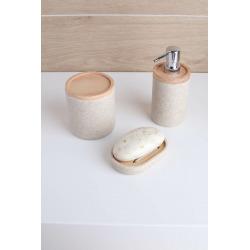 Poly Brosse de toilette en polyrésine, Sable (POLY37)