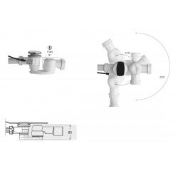 """Siphon pour baignoire 1 """"1/2, hauteur 42 mm, Blanc (AS07800)"""