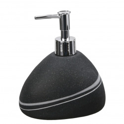 Sidao Distributeur de savon en polyrésine, Noir (SID99)