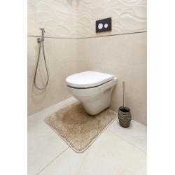 Soreta Brosse de toilette sur pied en polyrésine, Marron (SOR37)