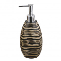 Soreta Distributeur de savon sur pied en polyrésine, Marron (SOR99)