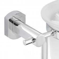 Cube Way Brosse de toilette murale en métal, Chrome (SPI37)