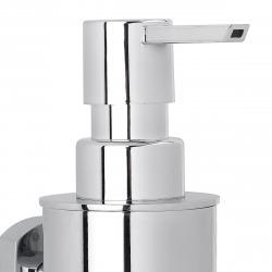 Cube Way Distributeur de savon mural en laiton, Chrome (SPI99)