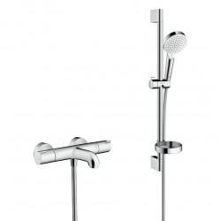 Pack Ecostat 1001 CL Mitigeur Thermostatique bain/douche + Set de douche Crometta Vario avec porte-savon (13201000-Crometta2)