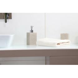 Supera Distributeur de savon sur pied en polyrésine, Sable (SUP99)