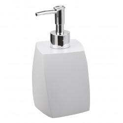 Suza Distributeur de savon sur pied en polyrésine, Blanc (SUZ99)