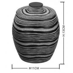 Soreta Boîte sur pied en polyrésine, Marron (SOR55)