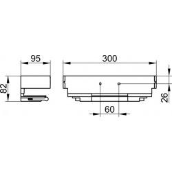 Edition 11 Panier de douche avec raclette intégrée, Amovible, Fixation invisible, Argent anodisé (11159010000)