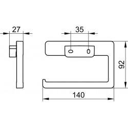 Moll Porte-rouleau de papier toilette, Fixation murale invisible, Chrome (12762010000)