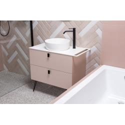 Vasque à poser Infinitio 39 x 39 x 12 cm sans trop-plein, blanc (SATINF3939M)