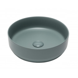 Vasque à poser Infinitio 39 x 39 x 12 cm sans trop-plein, vert mat (SATINF3939LGE)