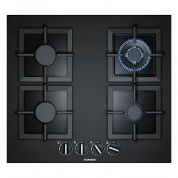 Plaque de cuisson à gaz 60 cm, encastrable avec 4 foyers + technologie stepFlame, verre trempé, Noir (EP6A6HB20)