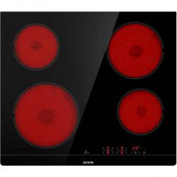 Plaque de cuisson vitrocéramique avec 4 foyers Hi-light + Fonction Maintien au chaud, Noir (ECT641BSC)