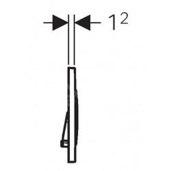 Sigma30 Plaque de déclenchement double touche, Noir/noir mat (115.883.DW.1)