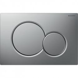 Sigma01 Plaque de déclenchement double touche, Chrome mat (115.770.JQ.5)