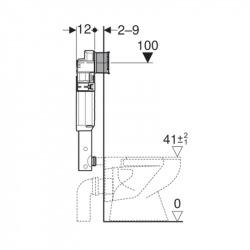 Sigma Réservoir de chasse WC à encastrer 12cm, 6/3 litres (109.300.00.5)