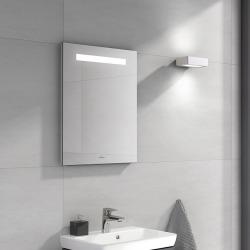 More To See One Miroir mural avec éclairage LED encastré, lumière naturelle, 50x60cm, Classe énergétique A+ (A430A700)