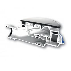 Turboflow-XS Bonde ultra-compacte spéciale pour receveur de douche extra-plat, avec innovation MagneTech (0205801)