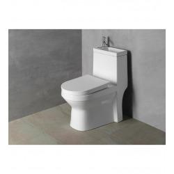 Hygie WC à poser avec lave-mains intégré, Abattant soft close (PB104)