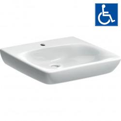 Selnova Comfort Lavabo PMR 550x550 mm avec perçage pour robinetterie, Blanc (500.187.01.1)