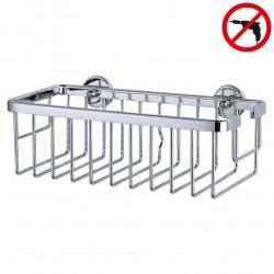 Aluxx Panier de bain/douche en aluminium chromé inoxydable, pose facile sans perçage (40201-00000-00)