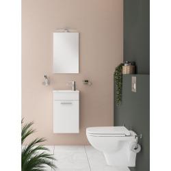 Meuble pour salle de bain avec miroir lavabo et éclairage Vitra Mia 39x61x28 cm, blanc brillant (MIASET40B)