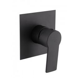 B-Way Mitigeur de douche à encastrer, avec levier + Corps encastré inclus , Noir mat (SATBSBW210)