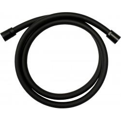 B-Way Barre de douche avec curseur réglable + Douchette à main Stick + Flexible 1,5m, Noir mat (SATBSSSBW)