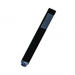 B-Way Colonne de douche + Mitigeur thermostatique + Douchette Stick + Flexible 1,5m + Douche de tête carrée, Noir mat (SATBWSST)