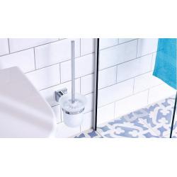 Hukk Ensemble mural Porte brosse WC, pose facile sans perçage, chrome (40248-00000-00)