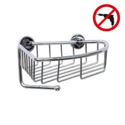 Draad Panier d'angle, aluminium chromé, pose facile sans perçage (40226-00000-00)