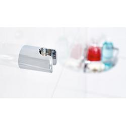 Spaa Support pour pomme de douche, plastique finition chromée, pose facile sans perçage (40343-00000-00)