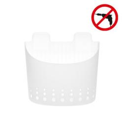 Tesa PowerStrips Grand panier résistant à l'eau en plastique, pose facile sans perçage (59706-00000-02)
