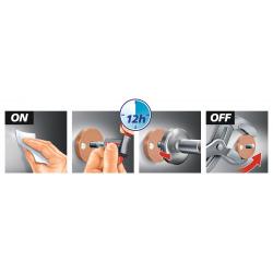 Powerbutton Crochet, acier inoxydable, pose facile sans perçage (59330-00000-00)