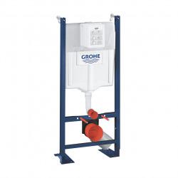 Pack WC Bâti 113 cm autoportant + WC Swiss Aqua Technologies Infinitio sans bride + Plaque chrome (ProjectInfinitio-1)