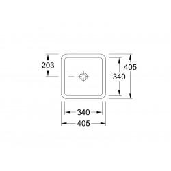 Loop&Friends Vasque 34x34cm à encastrer, Blanc alpin (61621101)