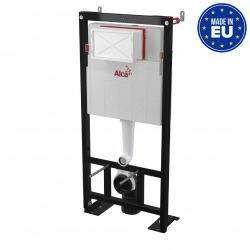Pack WC Bâti autoportant + WC Swiss Aqua Technologies Infinitio sans + Plaque blanche (AlcaInfinitio-4)